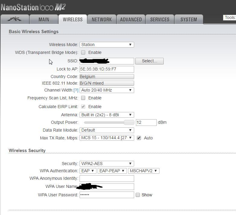 NanoStation M2 loses connection during EAP re-authentication