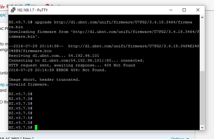 Downgrade firmware UAP AP-AC PRO | Ubiquiti Community