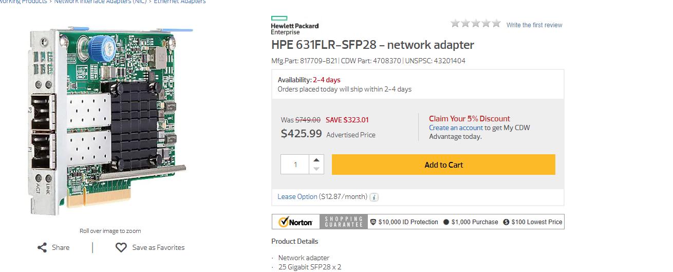 Anybody use Fiber cards on a server (HP)   Ubiquiti Community