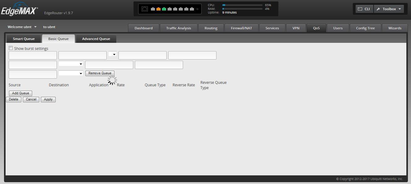 EdgeRouter 8 -Basic QoS Tab Crashes | Ubiquiti Community