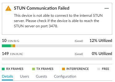STUN Communication Failed | Ubiquiti Community