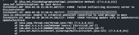 3 9 2 NVR Offline  ERROR Unable to connect to cloud (cannot