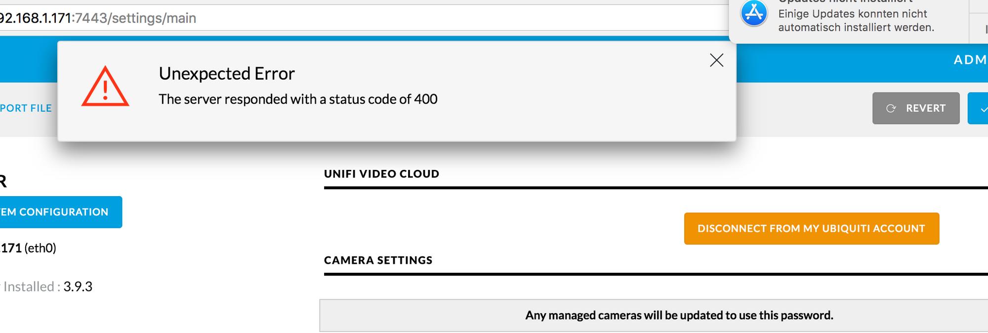 Cloud adoption not working with NVR v3 9 3 | Ubiquiti Community