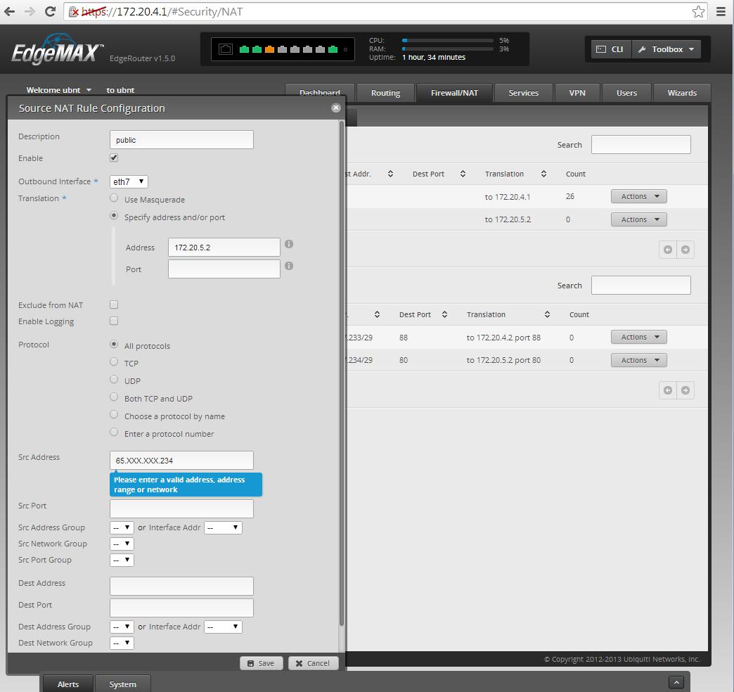 Century Link Multiple IP Addresses | Ubiquiti Community