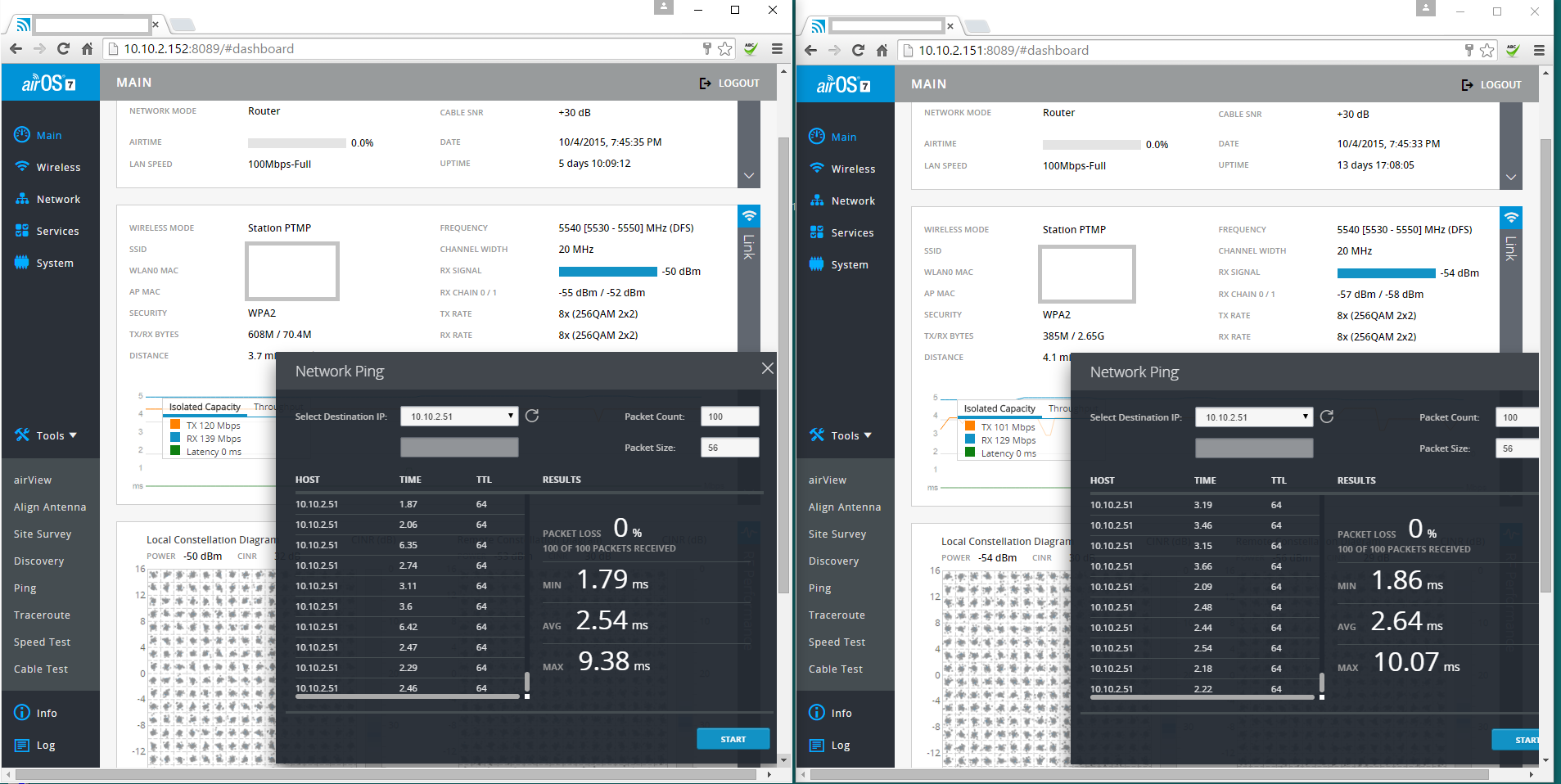 packet loss on AC PTMP setup | Ubiquiti Community