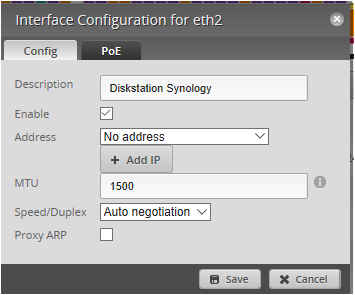 EdgeRouter-X : Interface Configuration and Port forwarding
