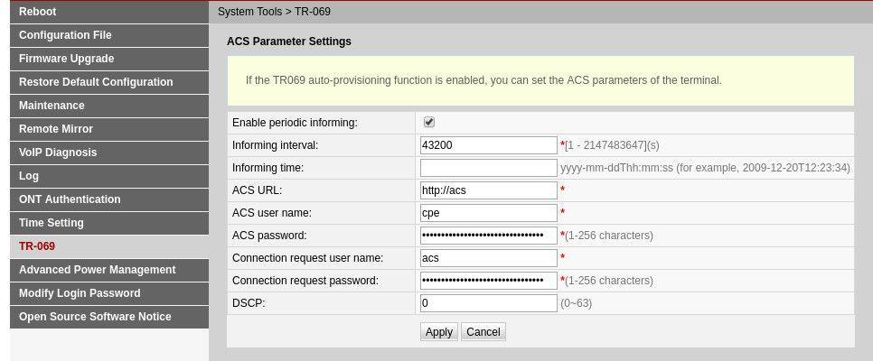 UFiber Nano G - GPON Huawei HG8245 Configuration | Ubiquiti