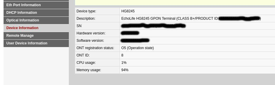 UFiber Nano G - GPON Huawei HG8245 Configuration | Ubiquiti Community