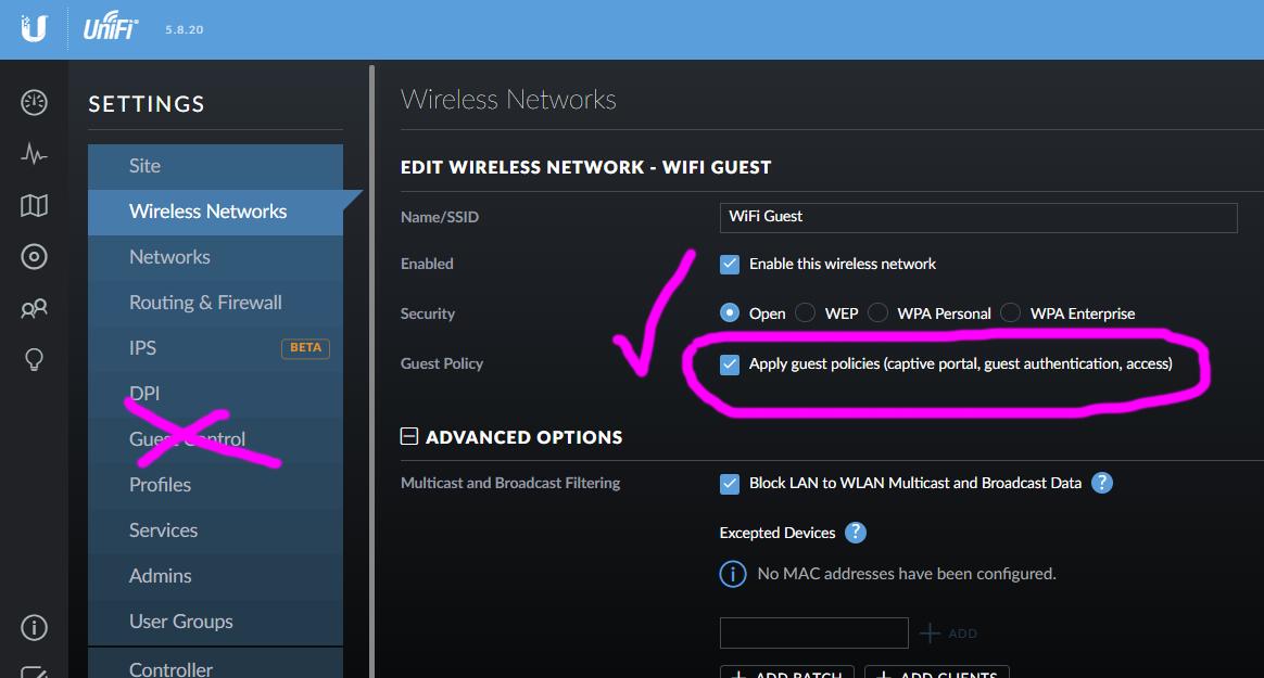 Unifi AP AC Lite guest network without USG | Ubiquiti Community