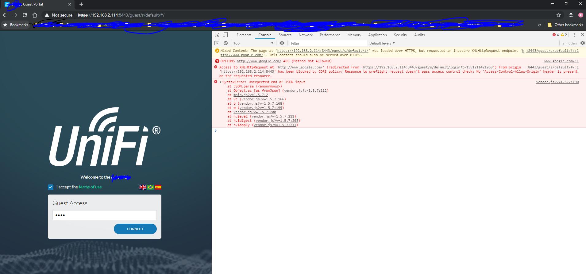 Guest Portal Error after Login Attempt   Ubiquiti Community