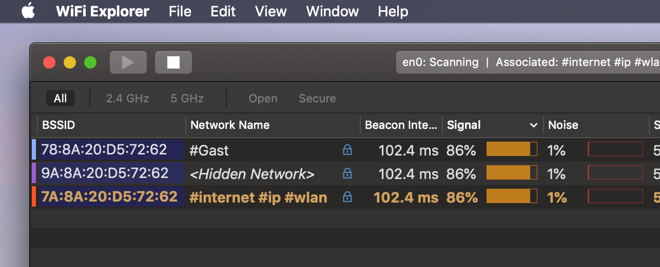 Wifi Scanner shows hidden network | Ubiquiti Community