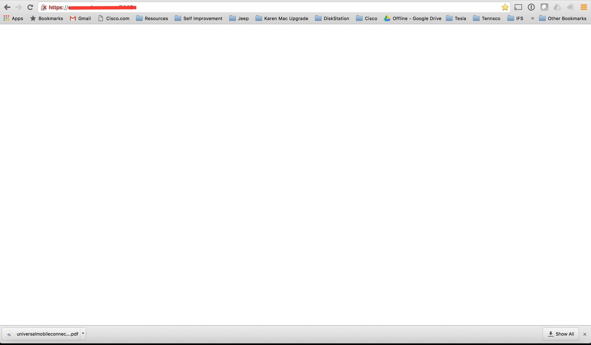 Blank Screen When Trying to Login to Unifi Video After