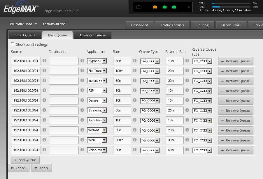 HFQ on ERLite running edgemax 1 9 7 | Ubiquiti Community
