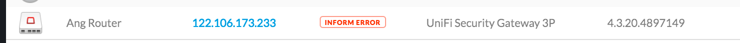 USG is Disconnected (or Inform Error) - but UAP-AC-LRs