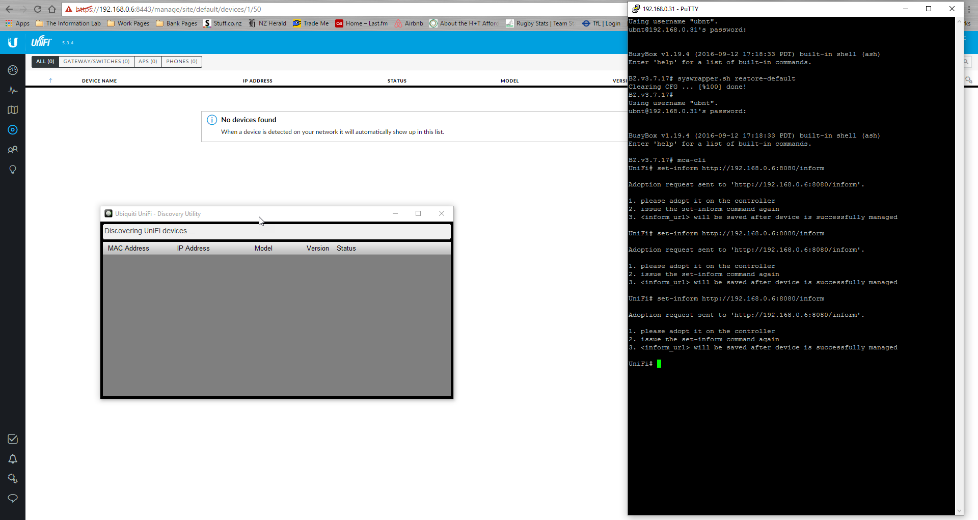 Controller cant discover UAP lite   Ubiquiti Community