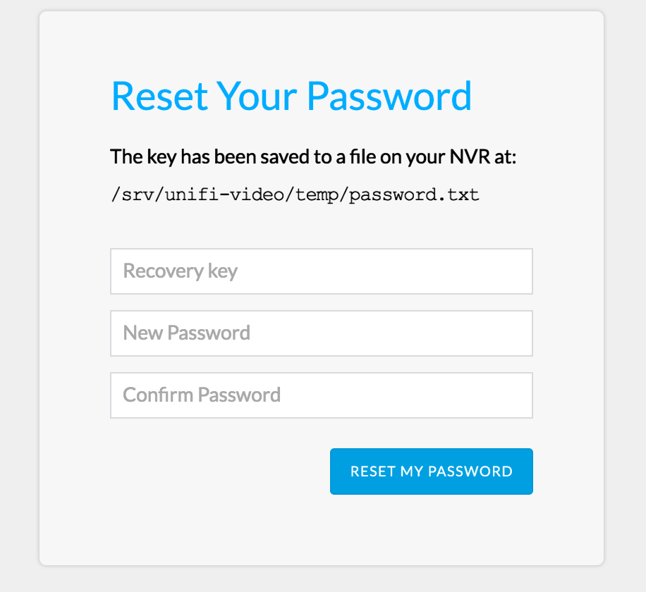 NVR Password Requirements   Ubiquiti Community
