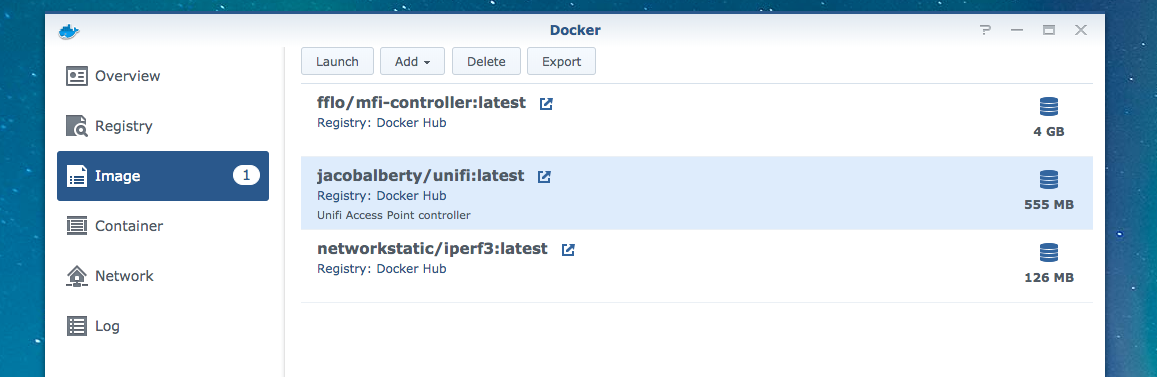 Synology Docker Json