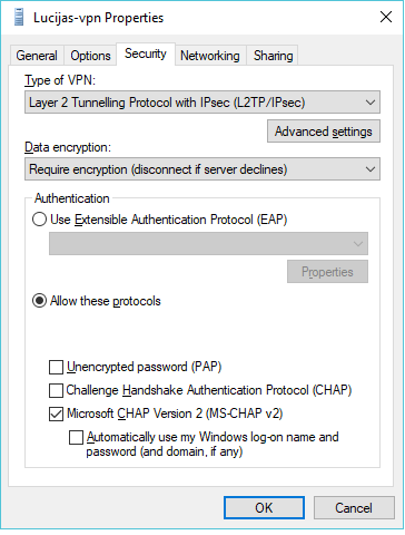 Can't get Remote User VPN over L2TP to work with Win10