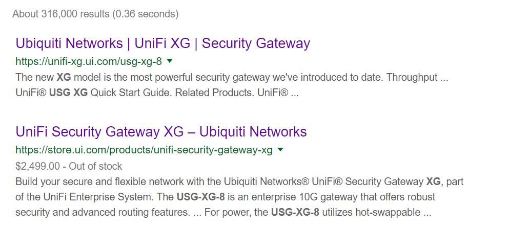 USG-XG-8 EOL? | Ubiquiti Community