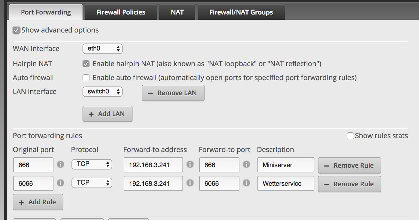 ER-X: Port forwarding problems | Ubiquiti Community