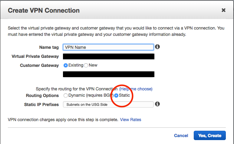 How to configure a VPN between AWS and USG Pro? | Ubiquiti