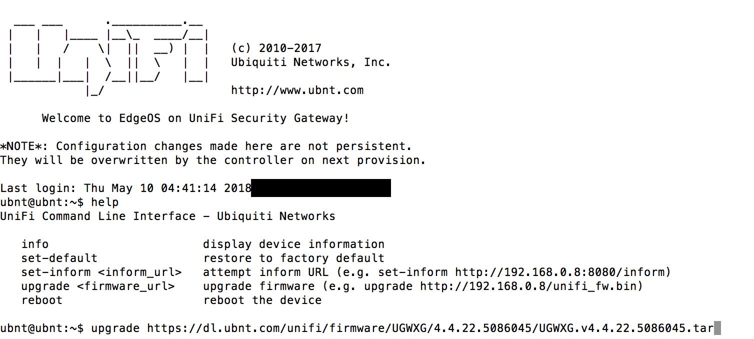 Upgrading USG XG firmware without/before adopting | Ubiquiti Community