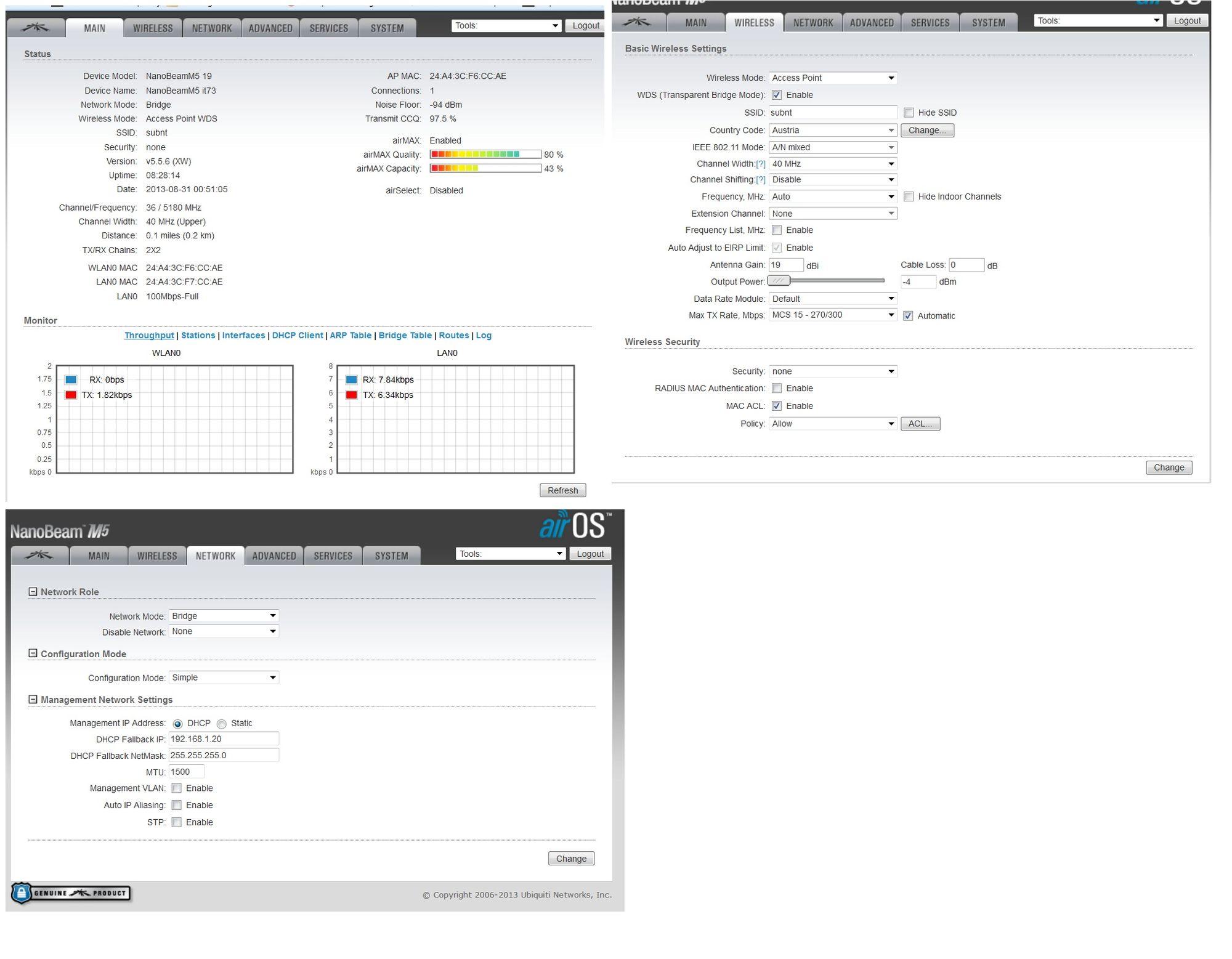 NBE-M5-19 nanobeam lan unplugged error | Ubiquiti Community