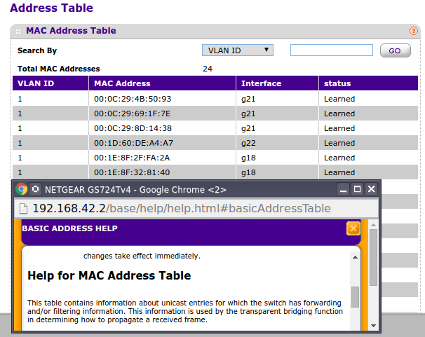 List all learned mac addresses on interface/port | Ubiquiti Community