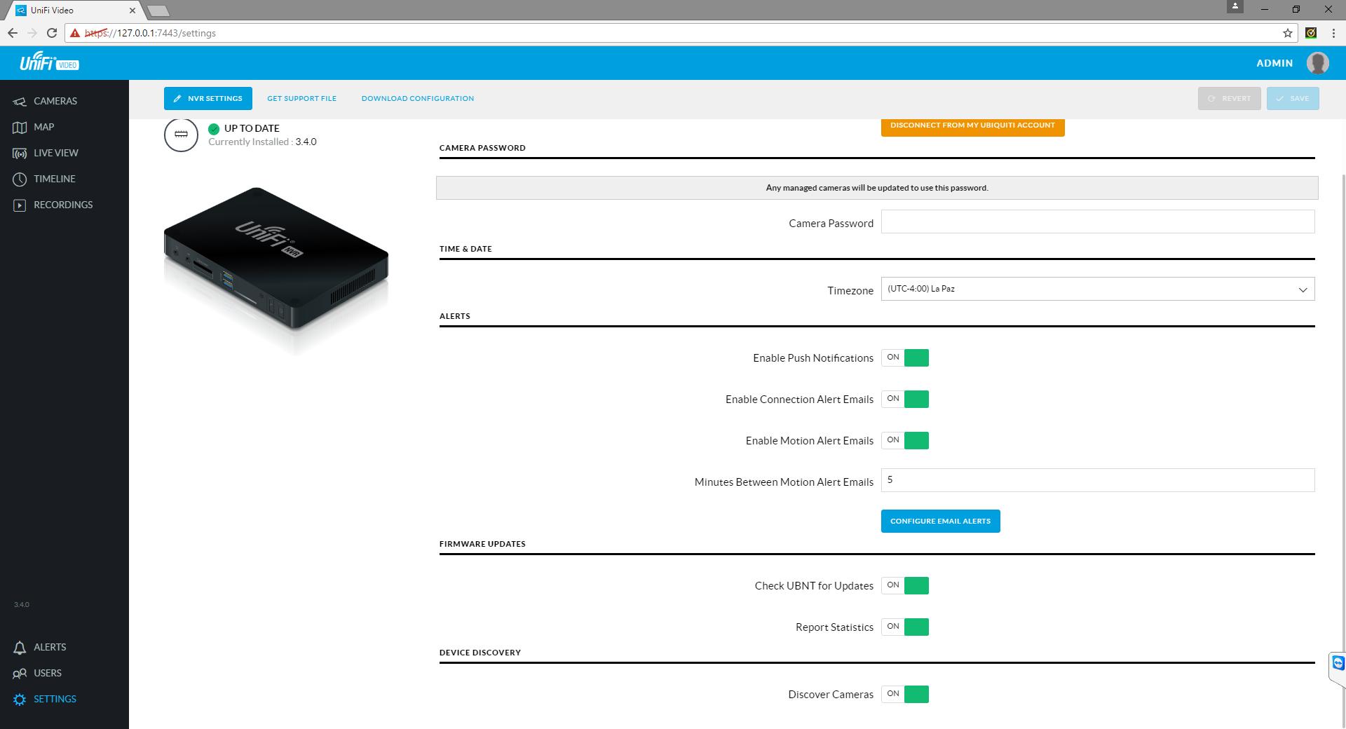 Unifi Video Windows record to NAS via Network Drive? | Ubiquiti