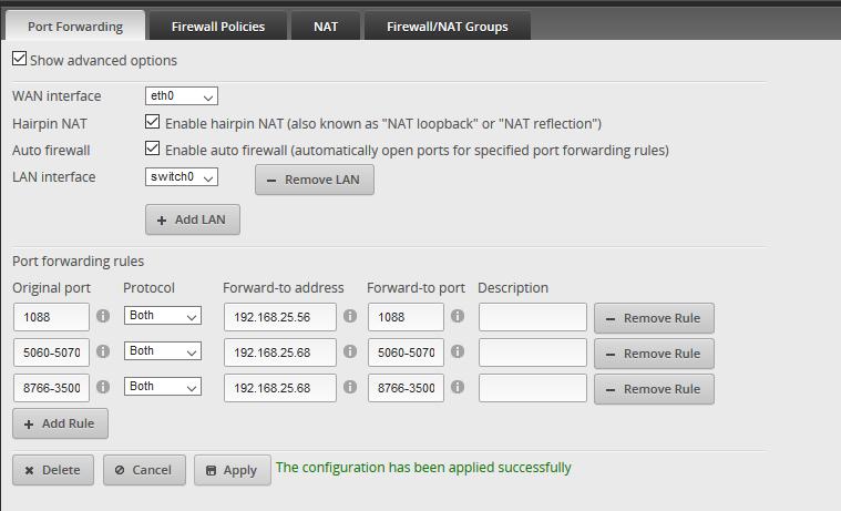 Edgerouter Firewall