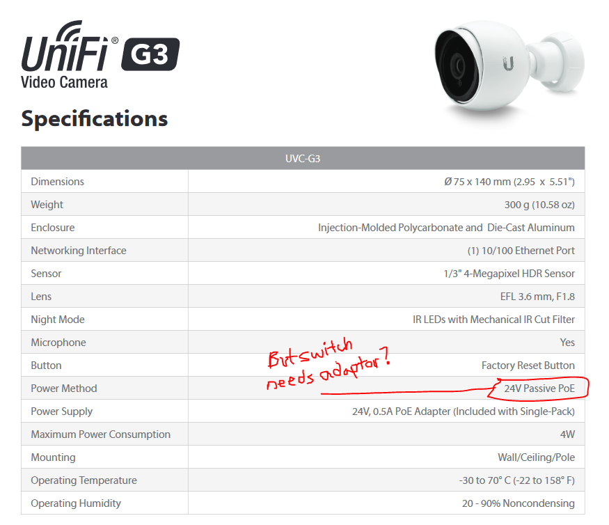 UniFi Switch confusion powering G3 cameras | Ubiquiti Community