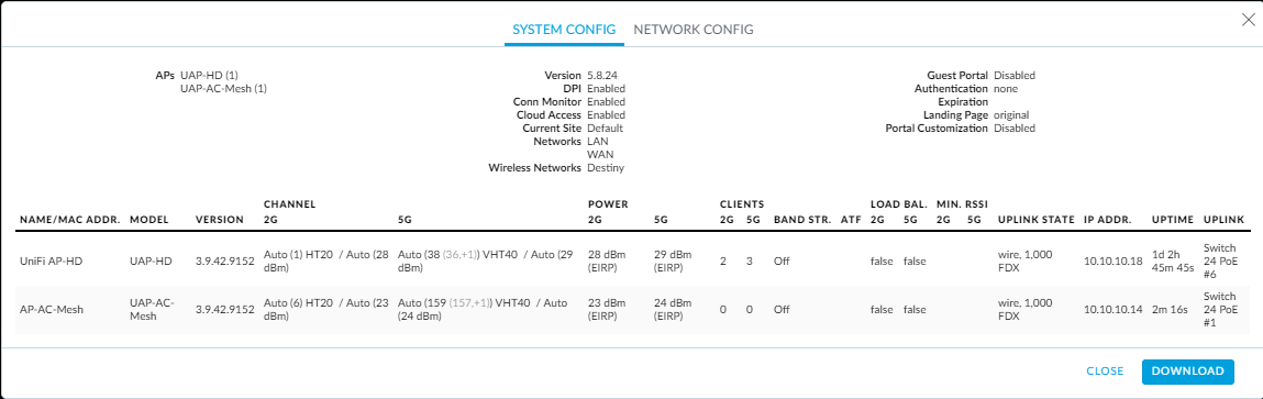 UniFi AP-HD - Devices won't connect to internet on 5g