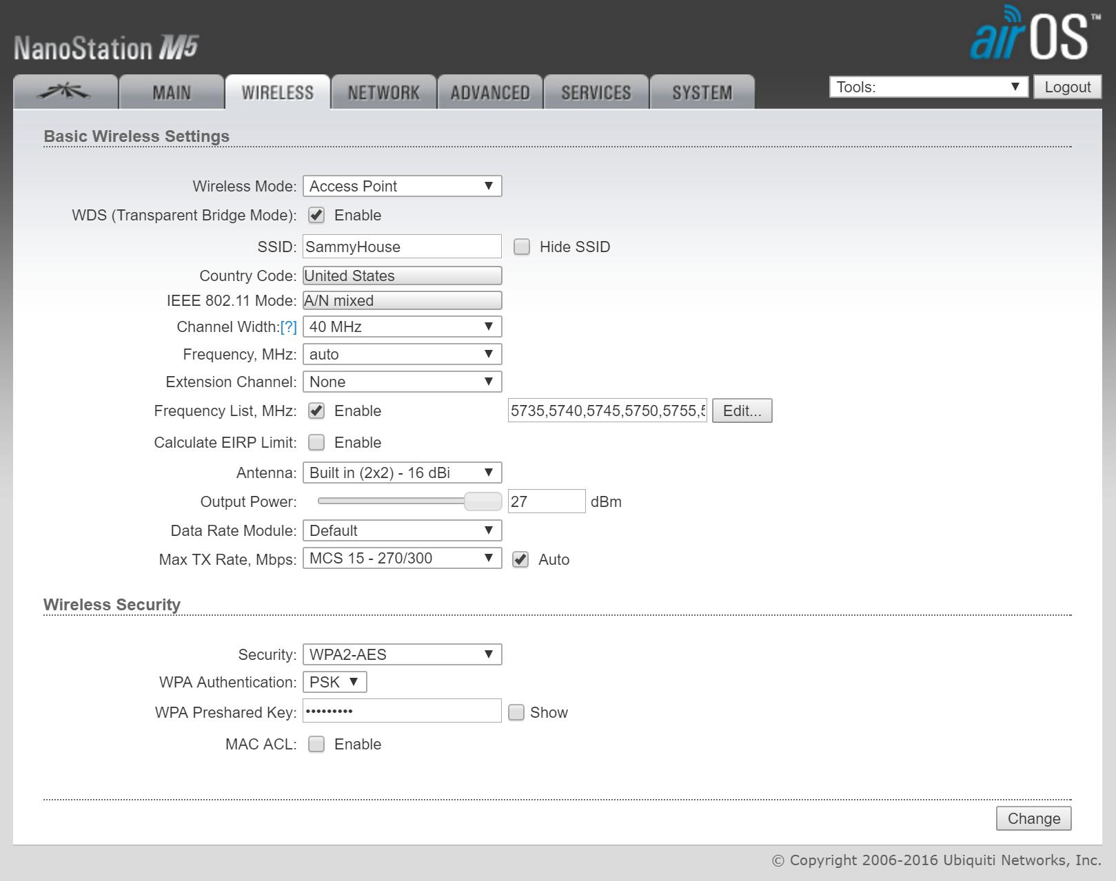 Upgraded Xfinity modem and now nanostation bridge setup