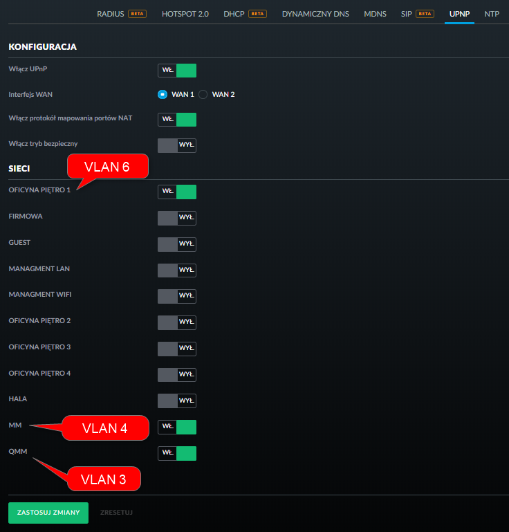 DLNA server in one of VLANs | Ubiquiti Community