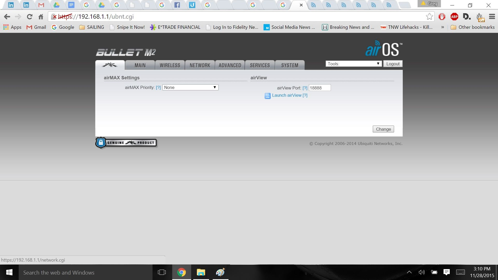 Bullet M2HP is set up properly but cannot access websites   Ubiquiti