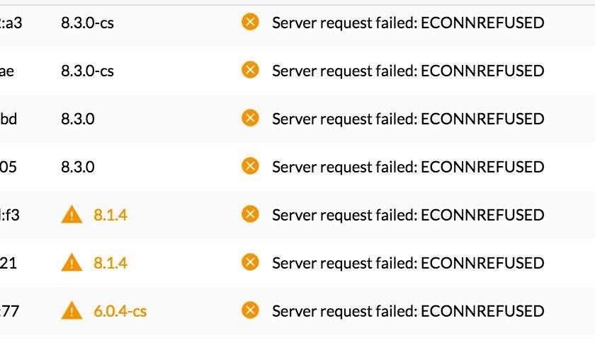Server request failed: ECONNREFUSED | Ubiquiti Community