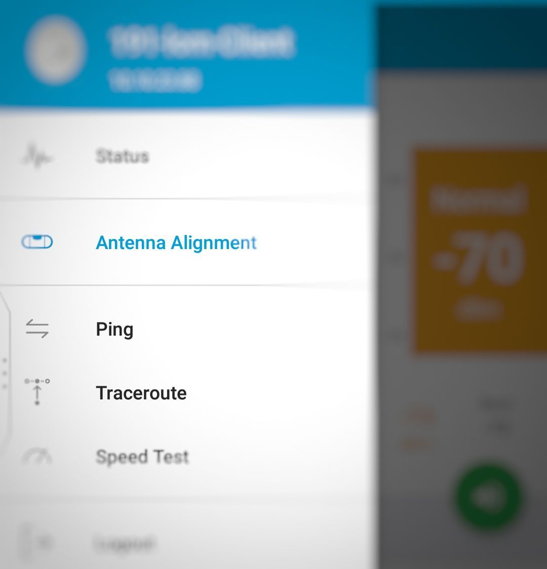 Antenna Alignment and Ping Tools for read-only account on