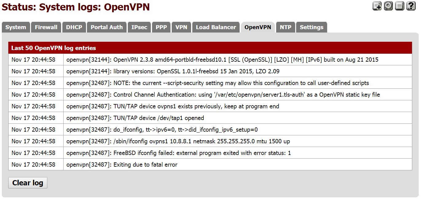 Armoured Vehicles Latin America ⁓ These Pfsense Openvpn Client Log