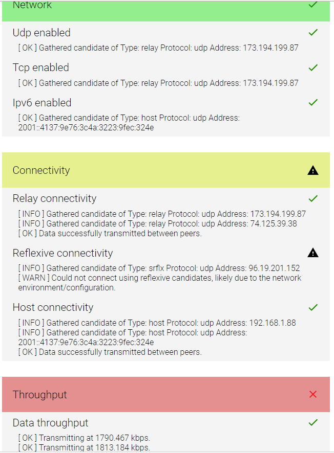 Unable to control Unifi or Unifi-Video remotely  WebRTC