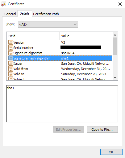 Generate new SSL certificate for GUI - ERL on v1 8 5