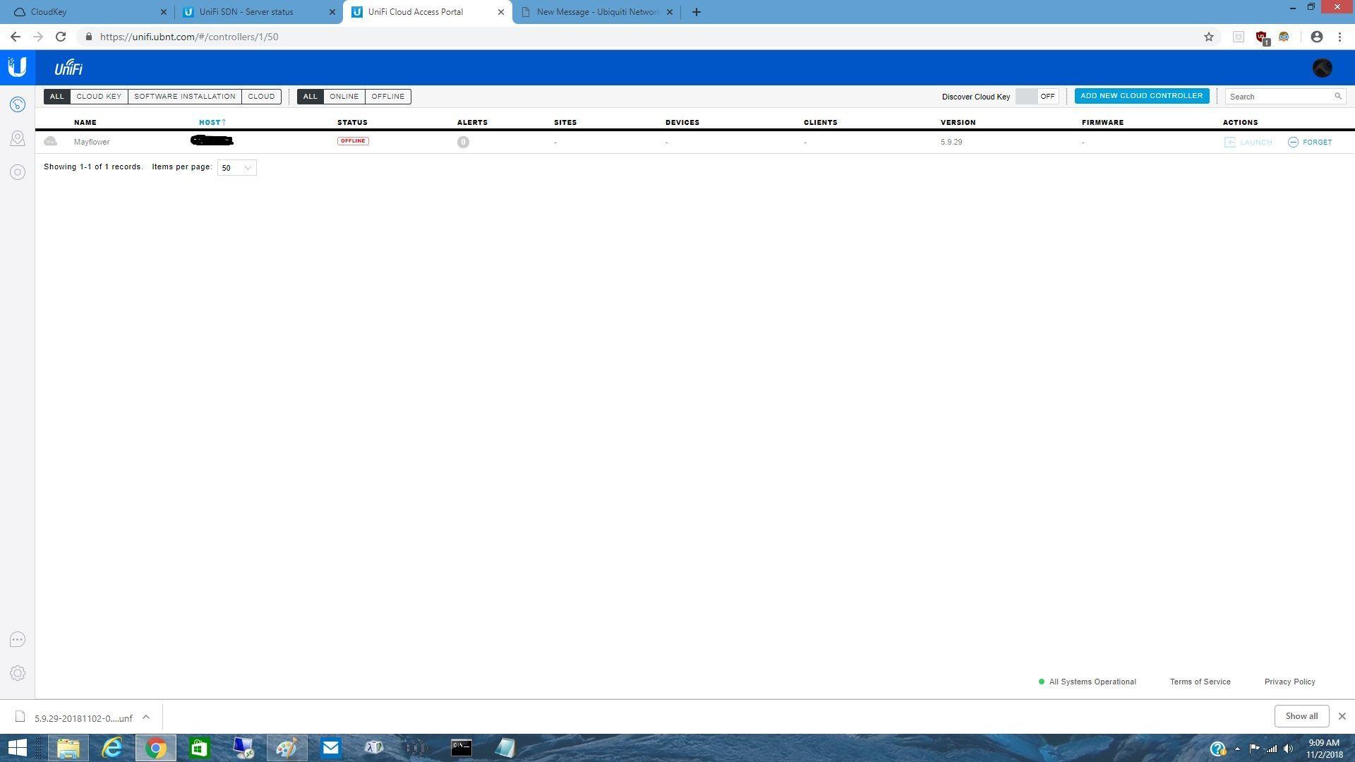 Controller fails to start after reboot of CloudKey | Ubiquiti Community