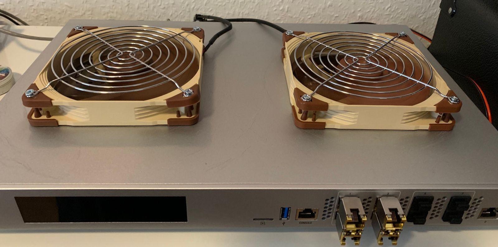 USG-XG-8 noise/cooling: fan swap and case modification