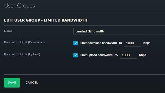 Bandwidth limits on a group NOT working | Ubiquiti Community