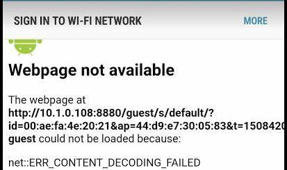 Unifi Guest Portal - Error Message | Ubiquiti Community