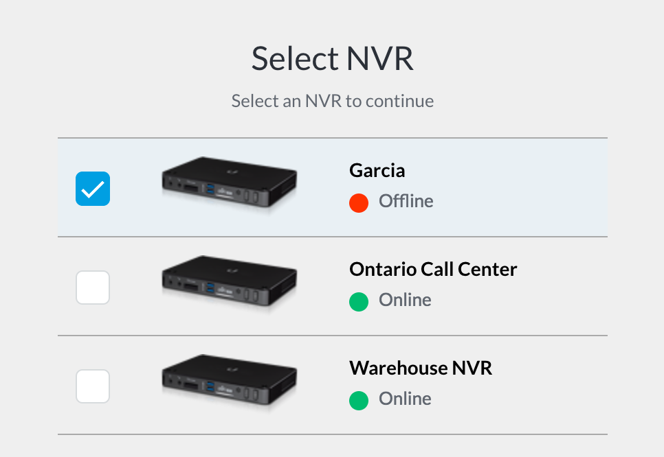 Cannot connect to NVR   Ubiquiti Community