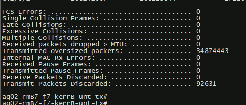 Airfiber24 with Cisco Switch Issues, dropped packets (Master