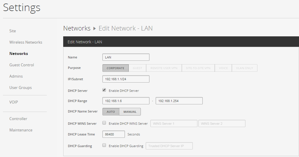 DHCP server on UniFi AP PRO? | Ubiquiti Community