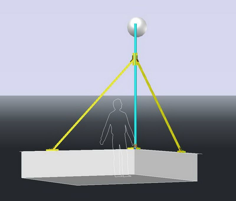 10 ft Antenna Mast Design for PowerBeam Install - Lightning