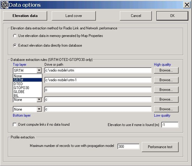 Elevation incorrect using online Radio Mobile   Ubiquiti