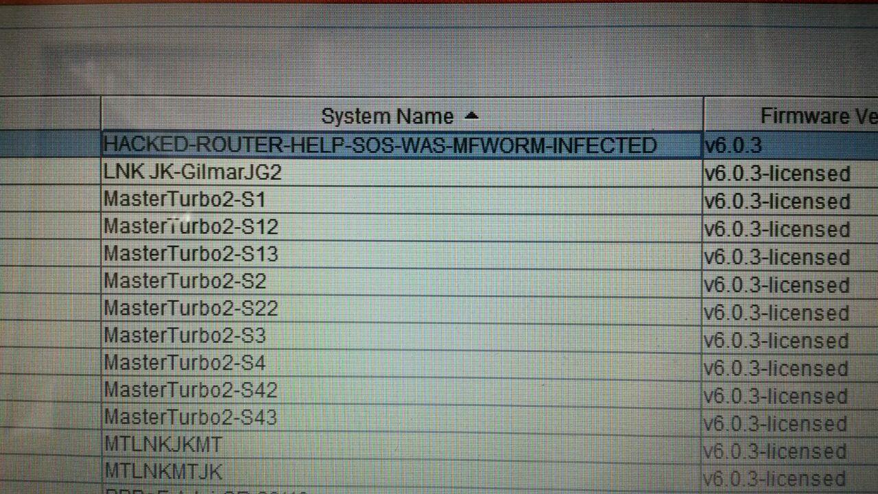 Worm in firmware 6 0 3 | Ubiquiti Community